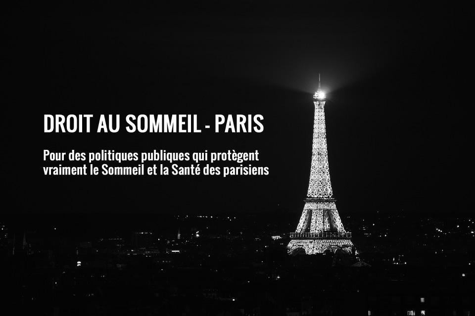 Droit au sommeil PARIS : collectif pour des politiques publiques qui protègent vraiment le Sommeil et la Santé des Parisiens